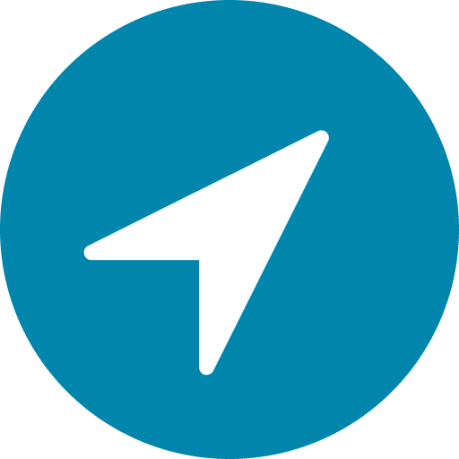 teal gps icon